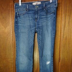 Hollister Boot Cut Low Rise Stretch Denim Jeans